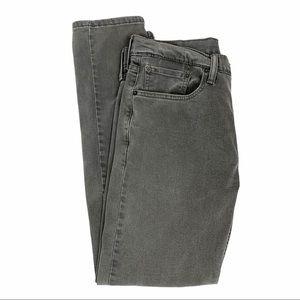 Levi's 502 Gray Taper Straight Leg High Rise Jeans